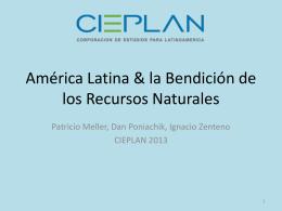 América Latina & la Bendición de los Recursos