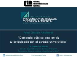 2014 2 Panel de Gestión Ambiental – Dr. Homero Bibiloni