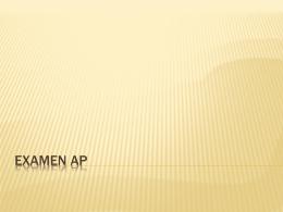 Examen AP