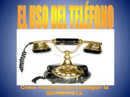 Como usar el teléfono