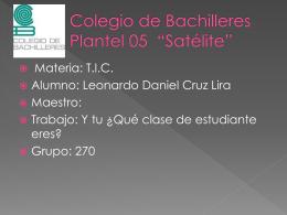 Colegio de Bachilleres Plantel 05 *Satélite* - cleonardo