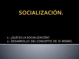 ¿qué es la socialización?