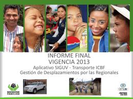 Informe Transporte FINAL Vigencia 2013