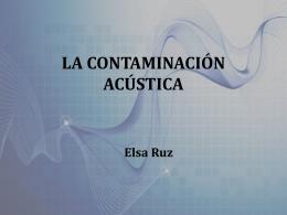 causas de la contaminación acústica