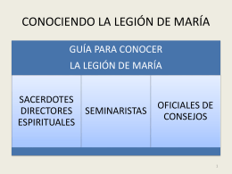 Diapositiva 1 - Legión de María