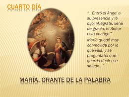 María orante de la palabra - Misioneras de la Inmaculada Concepción