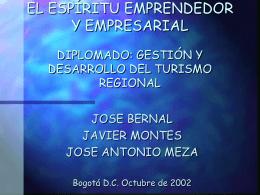EL ESPÍRITU EMPRENDEDOR Y EMPRESARIAL