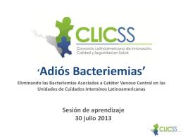 Adiós Bacteriemias