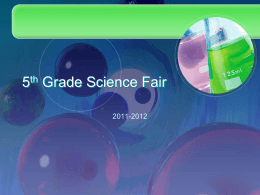 5th Grade Science Fair - Hadley11-12