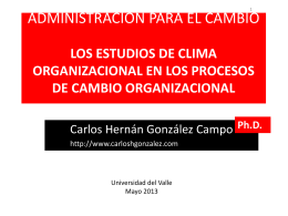 SESION CLIMA ORGANIZACIONAL