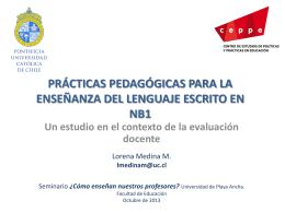 Prácticas pedagógicas para enseñar el lenguaje escrito en NB1