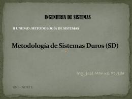 Metodología de Sistemas Duros (SD)