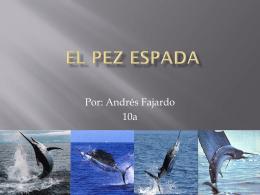 El pez espada - Ms. Marcos` Biology Wiki