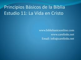Principios Básicos de la Biblia Estudio 11