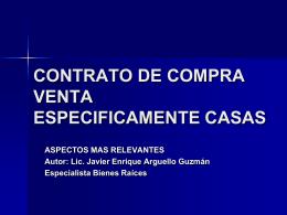 CONTRATO DE COMPRA VENTA CASAS