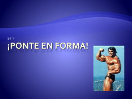 Ponte en forma! - Buchanan High School