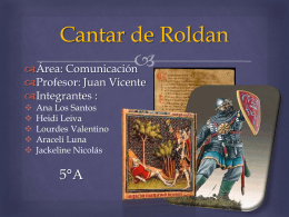 Cantar de Roldan ANTECEDENTES Europa Occidental Siglo VIII