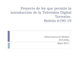 Proyecto de ley que permite la introducción de la Televisión Digital