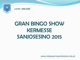 Gran Bingo Show Kermesse San Josesino 2015