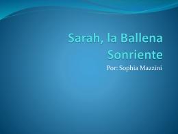 Sarah, la ballena sonriente