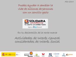 Dossier de prensa X Solidaria