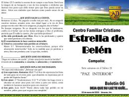 Paz interior boletin 6 - CFC Estrella de Belen