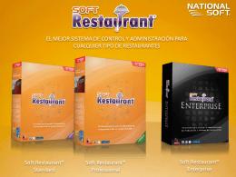 Presentación Comercial Soft Restaurant ® 8.0