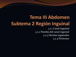 3.2 CANAL INGUINAL Y PERITONEO