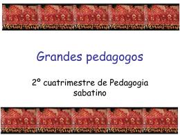 3.- Grandes pedagogos