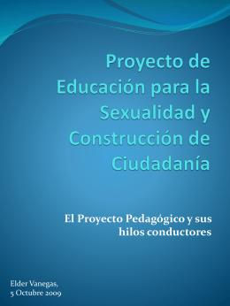 Proyecto Pedagógico de Educación para la Sexualidad y