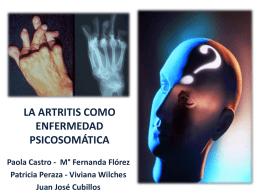 la artritis como enfermedad psicosomatica