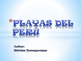 Playas del Perú - Mirian Tomayconza.V