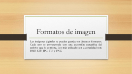 Formatos de imagen - Ing. Oscar Portobanco