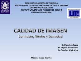 Calidad de la Imagen - Universidad de Los Andes