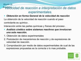 velocidad de reaccion e interpretacion de datos