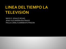LINEA DEL TIEMPO LA TELEVISIÓN - laTV-te-ve