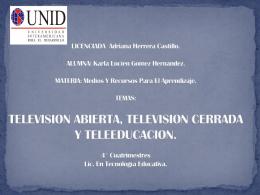 tv.abierta,cerrada y teleeducacion