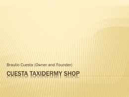 CUESTA TAXIDERMY SHOP
