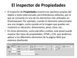 El inspector de Propiedades
