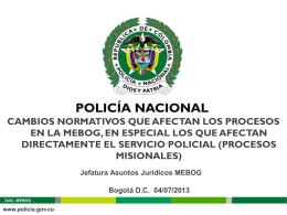 Diapositiva 1 - Policía Nacional de Colombia