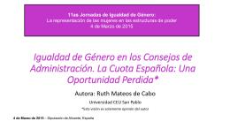 Conferencia de Ruth Mateos de Cabo