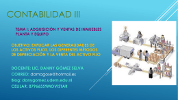 CONTABILIDAD III - Lic. Danny Gómez
