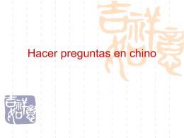 Hacer preguntas en chino