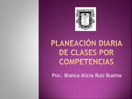 Planeación diaria de clases por competencias