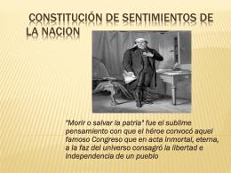 SENTIMIENTOS DE LA NACION