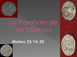 Los Talentos - EstudiosdelaBiblia