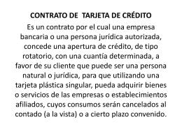 CONTRATO TARJETA DE CREDITO