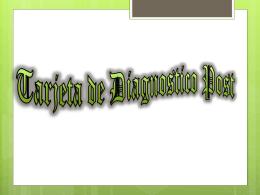 Tarjeta de Diagnostico Post