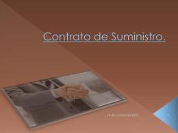 Contrato de Suministro.