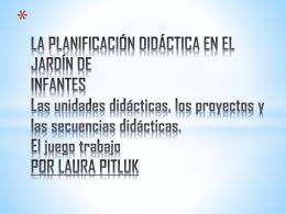 La Planificacion didactica en el jardin de los Infantes – Laura Pitluk.